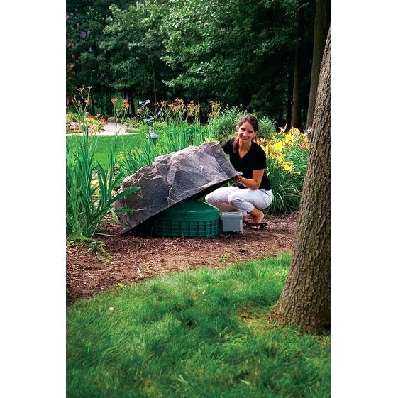 fake rock well cover fake rock well pipe cover model overstock great deals on garden accents mobile fake rock covers menards